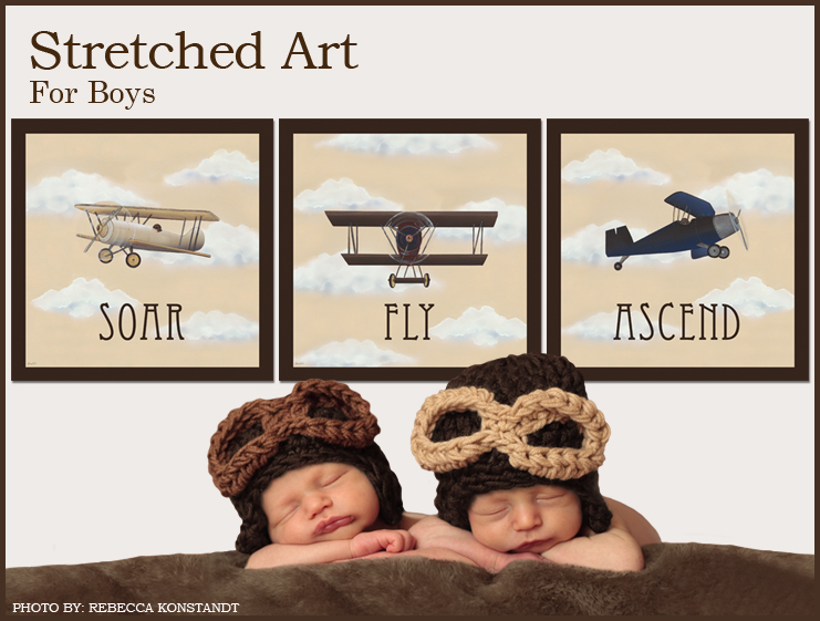 Stretched Art For Boys
